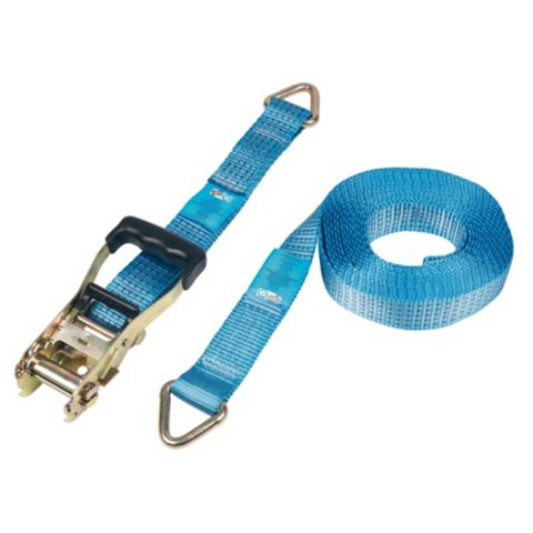 8m Ratchet Strap with D-Ring, Pack of 2