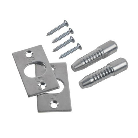 Zinc Plated Steel Hinge Bolts (L)9mm, Pack of 2