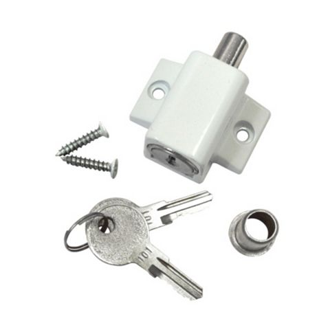 Smith & Locke White Patio Door Lock