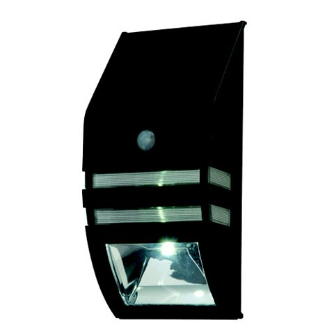 Lap Matt Black Contemporary Solar Powered LED Bulkhead Light