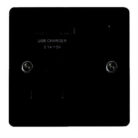 Lap 13A 1-Gang Polished Black Nickel Effect Switched Socket