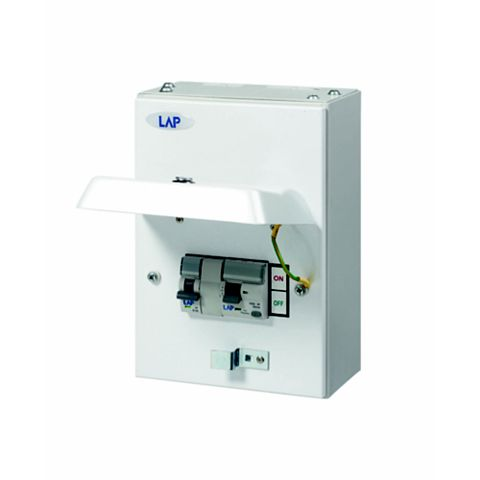 Lap 63A 1-Way Metal Enclosure Consumer Unit