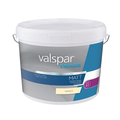 Valspar Matt Emulsion Paint Magnolia, 10L