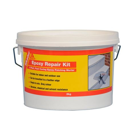 Sika Sikadur Epoxy Mortar Grey 2 kg Tub & Enclosed Sachet