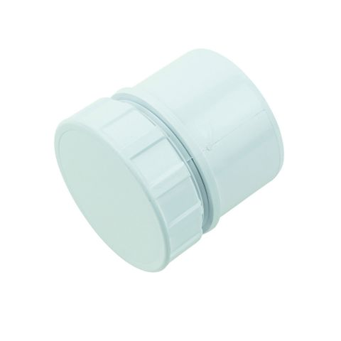 Floplast Access Plug (Dia)50mm, White