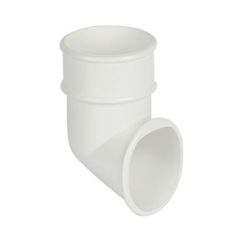 Floplast Round Gutter Downpipe Shoe (Dia)68mm (L)79mm, White
