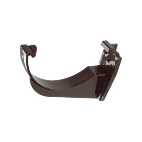 Floplast Half Round Gutter Fascia Bracket (Dia)112mm, Brown, Pack of 1