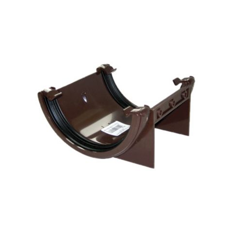 Floplast Half Round Gutter Union Bracket (Dia)112 mm, Brown