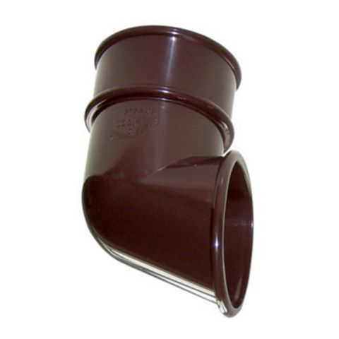Floplast Round Gutter Downpipe Shoe (Dia)68mm, Brown