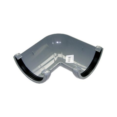 Floplast Half Round 90 ° Gutter Angle (Dia)112 mm, Grey