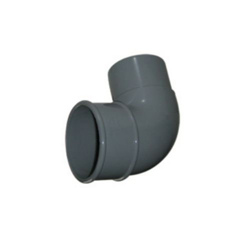 Floplast Round 92.5 ° Gutter Downpipe Offset Bend (Dia)68 mm, Grey