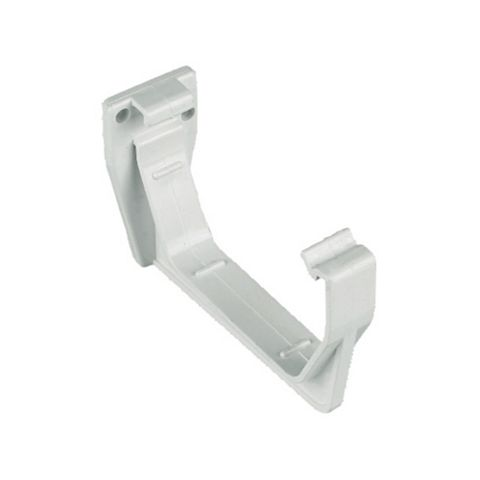Floplast Square Gutter Fascia Bracket (Dia)114 mm, White, Pack of 1