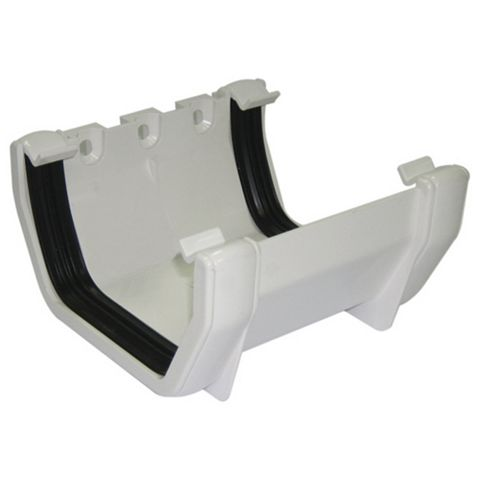 Floplast Square Gutter Union Bracket (W)114 mm, White
