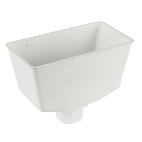 Floplast Square Gutter Hopper (W)31 mm, White