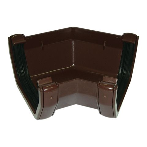 Floplast Square 135 ° Gutter Angle (Dia)114 mm, Brown