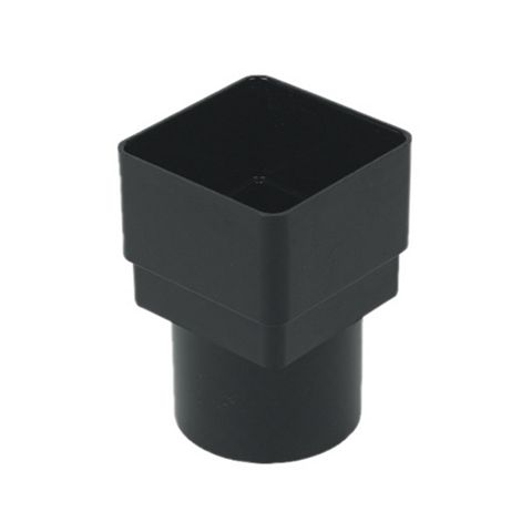Floplast Square/Round Downpipe Adaptor (Dia)68 mm, Black