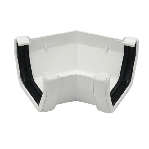 Floplast Square 135 ° Gutter Angle (Dia)114 mm, White