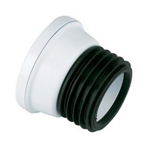 Floplast SP101 White Straight Connector
