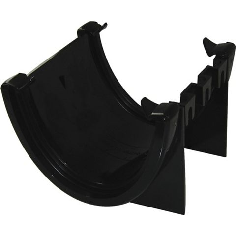 Floplast Hi-Cap Gutter Union Bracket (Dia)115 mm, Black
