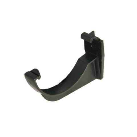 Floplast Half Round Gutter Fascia Bracket (Dia)112 mm, Black, Pack of 1