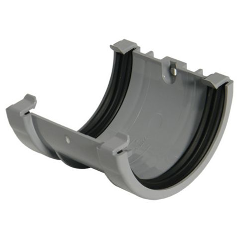 Floplast Miniflo Gutter Union Bracket (Dia)76 mm, Grey