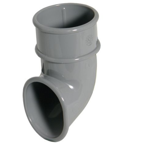 Floplast Miniflo Gutter Downpipe Shoe (Dia)50mm, Grey