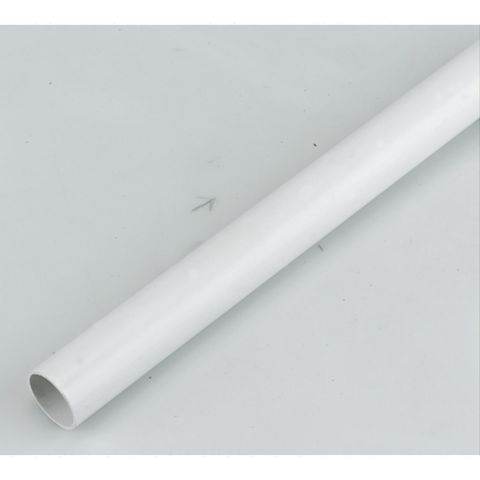 Floplast Waste Pipe, OS1W 21.5mm x 3m