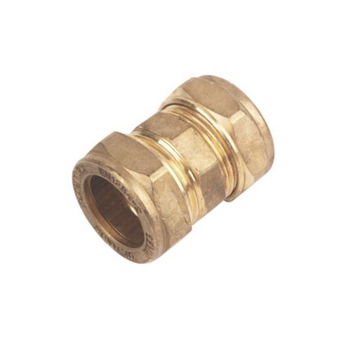 Compression Straight Coupler (Dia)22 mm, Pack of 2