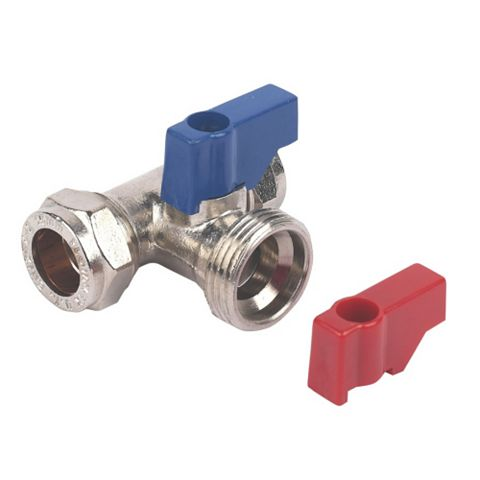 Compression Washing Machine Valve Tee (Dia)15mm