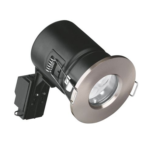 Aurora Fire Rated Satin Nickel Bathroom Downlight 4.5 W