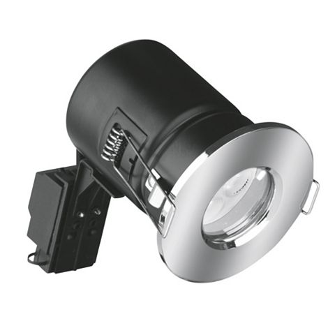Aurora Fire Rated Polished Chrome Bathroom LED Downlight 4.5 W