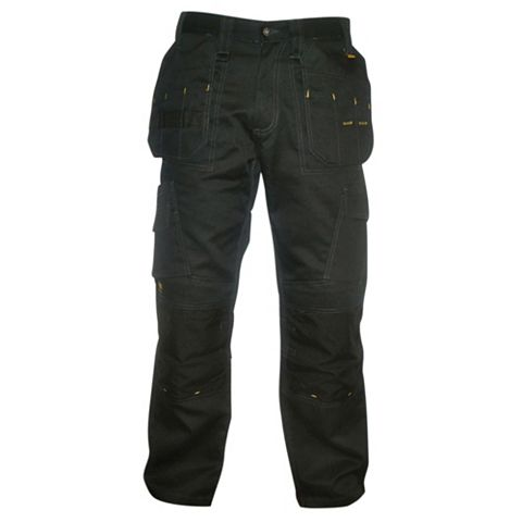 DeWalt Pro Canvas Black Work Trousers (Waist)36