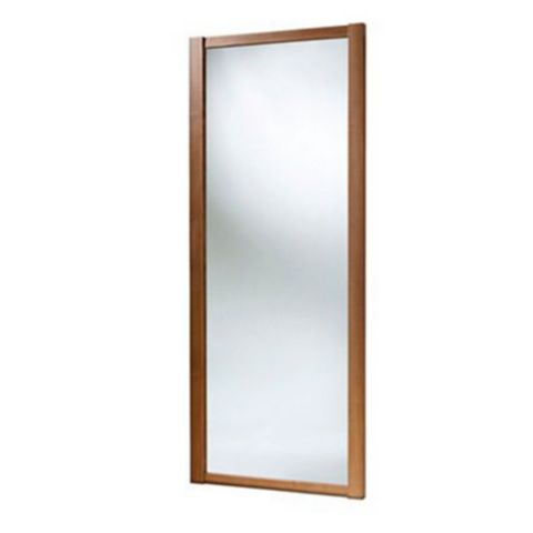 Shaker Full Length Mirror Walnut Effect Sliding Wardrobe Door (H)2220 mm (W)610 mm