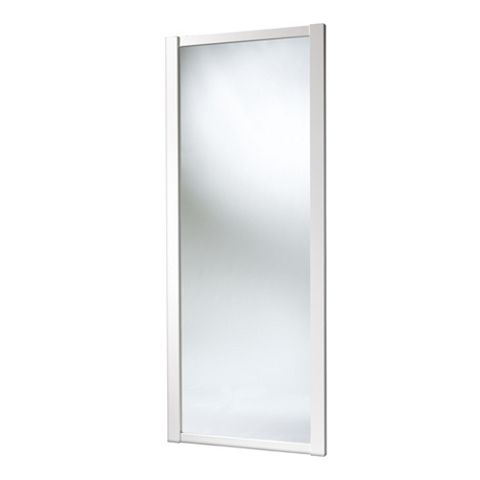 Shaker Full Length Mirror White Sliding Wardrobe Door (H)2220 mm (W)610 mm