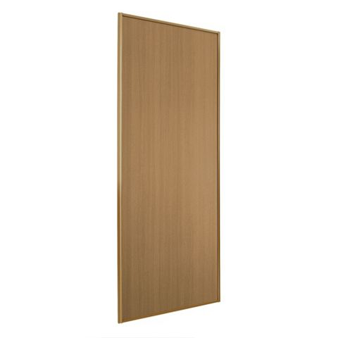 Panel Oak Effect Sliding Wardrobe Door (H)2220 mm (W)762 mm