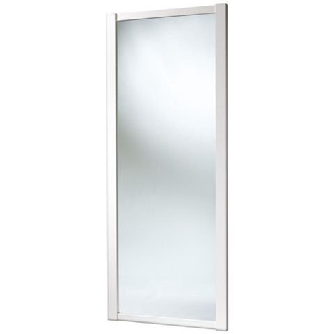 Shaker Full Length Mirror White Sliding Wardrobe Door (H)2220 mm (W)762 mm
