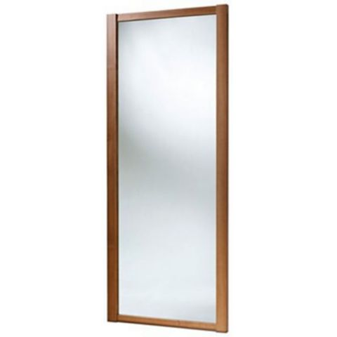 Shaker Full Length Mirror Walnut Effect Sliding Wardrobe Door (H)2220 mm (W)914 mm