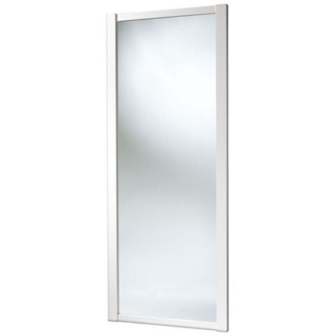Shaker Full Length Mirror White Sliding Wardrobe Door (H)2220 mm (W)914 mm