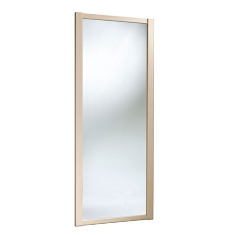 Shaker Full Length Mirror Maple Effect Sliding Wardrobe Door (H)2220 mm (W)914 mm