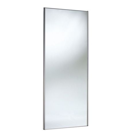 Mirrored Stainless Steel Effect Sliding Wardrobe Door (H)2220 mm (W)762 mm