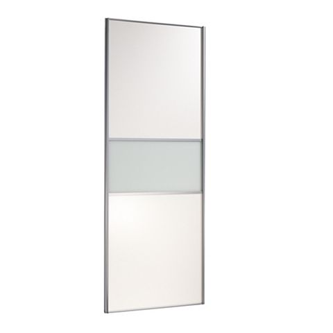 Contemporary Silver Frame Sliding Wardrobe Door (H)2220 mm (W)914 mm