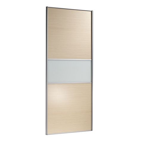 Fineline Maple Effect Sliding Wardrobe Door (H)2220 mm (W)914 mm