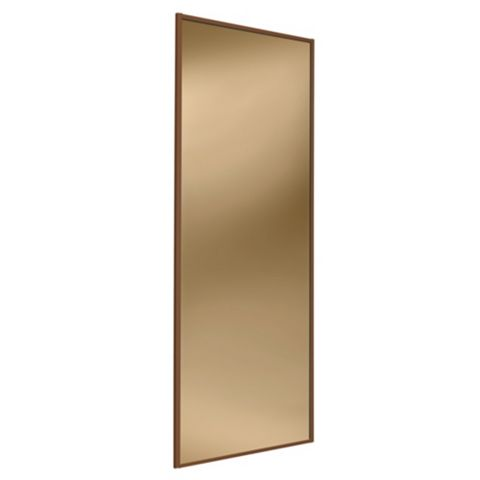 Full Length Mirror Bronze Sliding Wardrobe Door (H)2220 mm (W)914 mm
