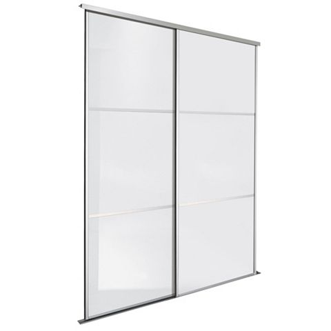 Premium Select White Sliding Wardrobe Door Kit (H)2.22 M (W)914 mm, Pack of 2