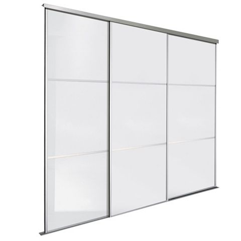 Premium Select White Sliding Wardrobe Door Kit (H)2.22 M (W)914 mm, Pack of 3