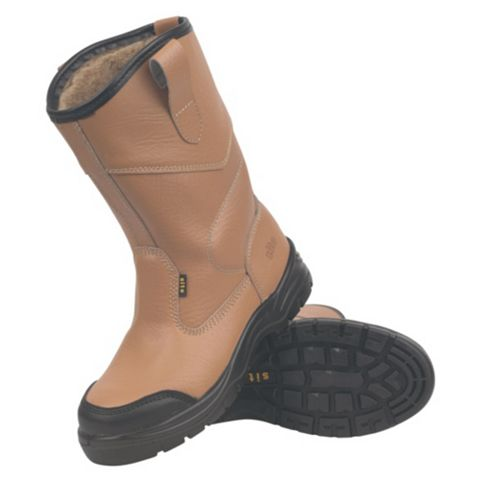 Site 200J Steel Toe Cap Rigger Safety Boots, Size 10
