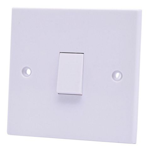 Marbo 6A 2-Way Single White Light Switch