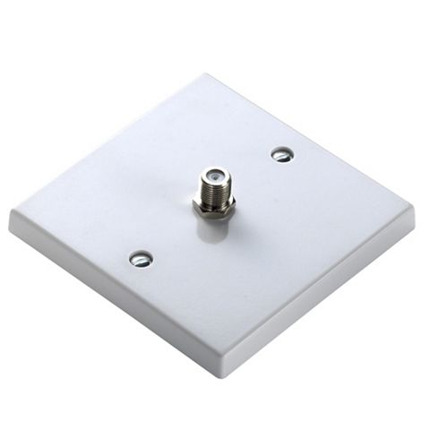 Propower Standard Screwed White Plastic Satellite Socket