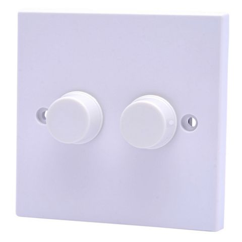 Propower 13A 1-Way Double White Dimmer Switch