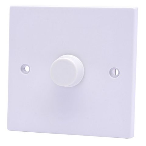 Propower 13A 2-Way Single White Dimmer Switch